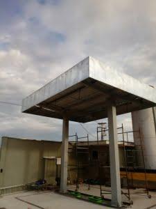 Estrutura de metal Postos de Gasolina